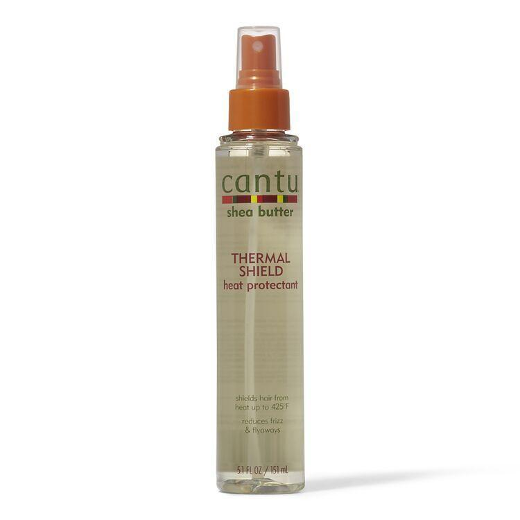 "<p><strong>Cantu</strong></p><p>sallybeauty.com</p><p><strong>$3.99</strong></p><p><a href=""https://go.redirectingat.com?id=74968X1596630&url=https%3A%2F%2Fwww.sallybeauty.com%2Fhair%2Fhair-care%2Fhair-styling-products%2Fheat-protection%2Fthermal-shield-heat-protectant%2FSBS-459107.html&sref=https%3A%2F%2Fwww.harpersbazaar.com%2Fbeauty%2Fhair%2Fg35068153%2Fbest-heat-protectant%2F"" rel=""nofollow noopener"" target=""_blank"" data-ylk=""slk:Shop Now"" class=""link rapid-noclick-resp"">Shop Now</a></p><p>Cantu's budget-friendly spray makes it so anyone can style relaxed, permed, and color-treated hair without wondering if they're secretly hurting it. It protects against 425 degrees, and uses shea butter for some extra moisture. </p>"