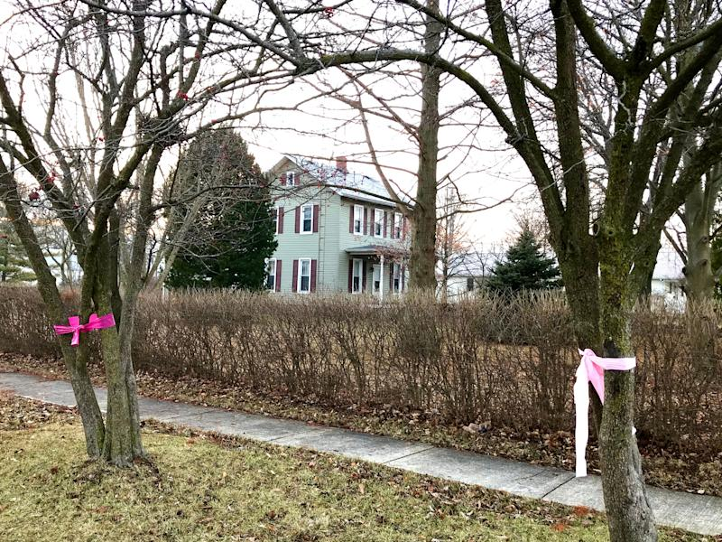 Missing teen Harley Dilly was reportedly found dead in this vacant home across the street from the Dilly's home in the 500 block of 5th Street in Port Clinton. Bright pink ribbons, reportedly the teen's favorite color, lined nearly all of 5th Street on Tuesday.