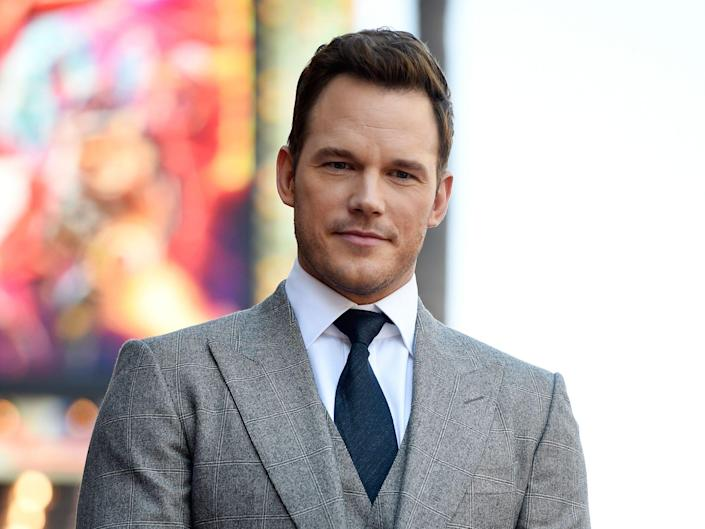 Chris Pratt gets a star on the Hollywood Walk of Fame in 2017.