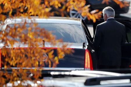 U.S. Secretary of State Rex Tillerson departs after meetings with President Donald Trump at the White House in Washington, U.S. November 30, 2017.  REUTERS/Jonathan Ernst