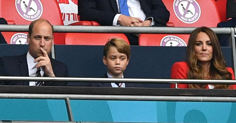Prince William, Prince George and Kate Middleton at England Euros 2021 game
