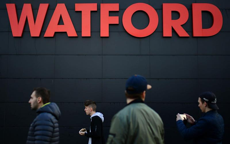 Watford sign and fans - Credit: Getty