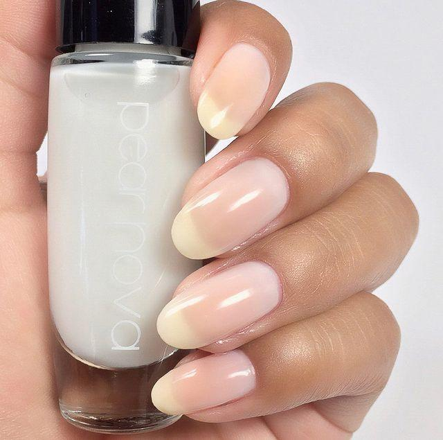 """<p>A simple nude color can be used to balance a bolder nail shape. """"We've been wearing the almond for so many seasons, which is feminine and timeless, but it is time to bring out our strength,"""" Lippmann continues. """"I predict a stronger nail shape, like a squoval (a square nail with a rounded edge), will be most popular in spring 2021.""""</p><p><a href=""""https://www.instagram.com/p/CJtTNRAFtOC/"""" rel=""""nofollow noopener"""" target=""""_blank"""" data-ylk=""""slk:See the original post on Instagram"""" class=""""link rapid-noclick-resp"""">See the original post on Instagram</a></p>"""
