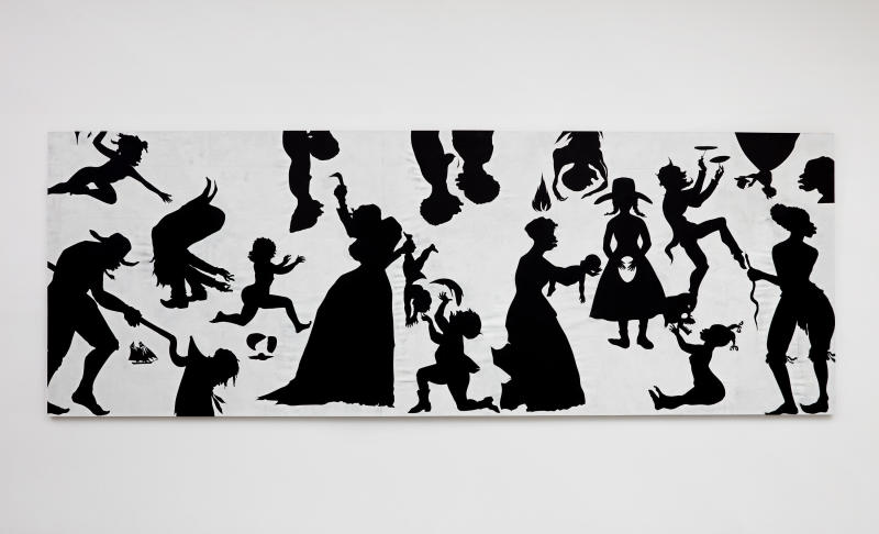 "Kara Walker, ""Slaughter of the Innocents (They Might be Guilty of Something),"" 2017, cut paper on canvas, 79 by 220 inches. (Kara Walker courtesy of Sikkema Jenkins Co New York)"