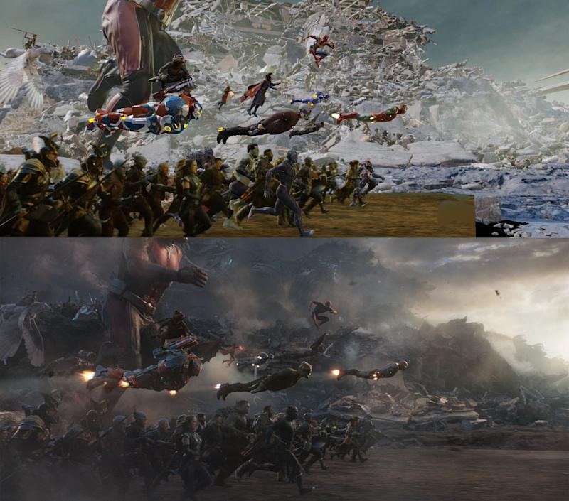 VFX breakdown of the final fight in 'Avengers: Endgame'. (Credit: Marvel)