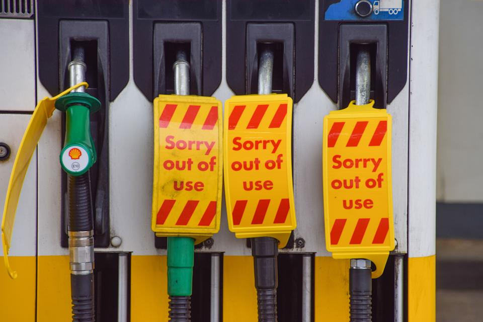 Fuel crisis: UK petrol prices hit eight-year high