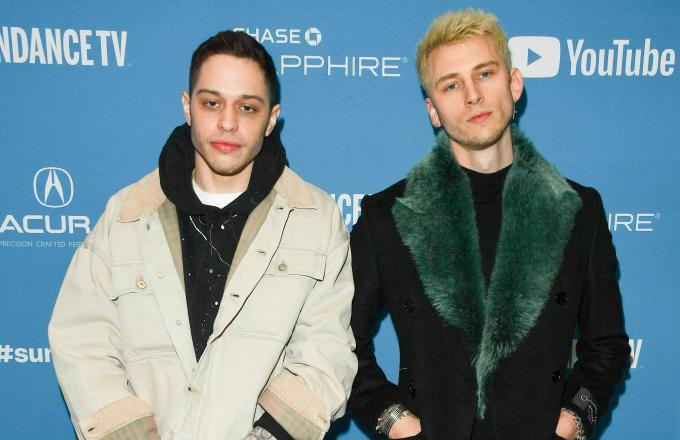 Machine Gun Kelly let it be known that he couldn't be happier for his friend's new relationship.