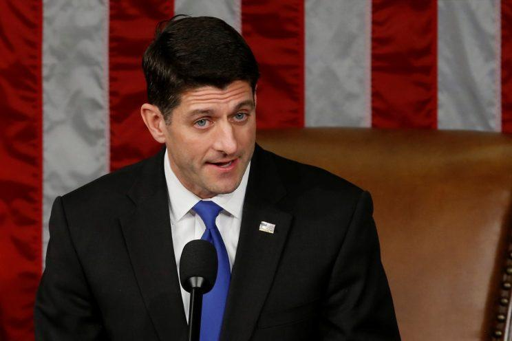 House Speaker Paul Ryan delivers remarks upon being reelected speaker. (Photo: Jonathan Ernst/Reuters)
