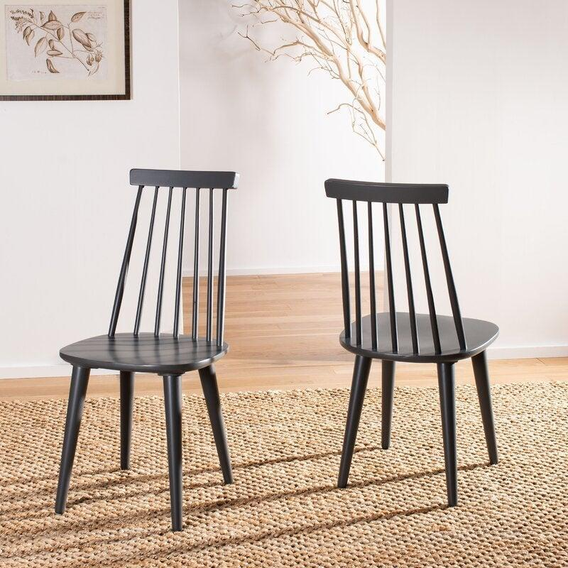 """<br><br><strong>AllModern</strong> Teo Solid Wood Dining Chair (Set of 2), $, available at <a href=""""https://go.skimresources.com/?id=30283X879131&url=https%3A%2F%2Fwww.wayfair.com%2Ffurniture%2Fpdp%2Fallmodern-teo-solid-wood-dining-chair-w003528937.html"""" rel=""""nofollow noopener"""" target=""""_blank"""" data-ylk=""""slk:Wayfair"""" class=""""link rapid-noclick-resp"""">Wayfair</a>"""