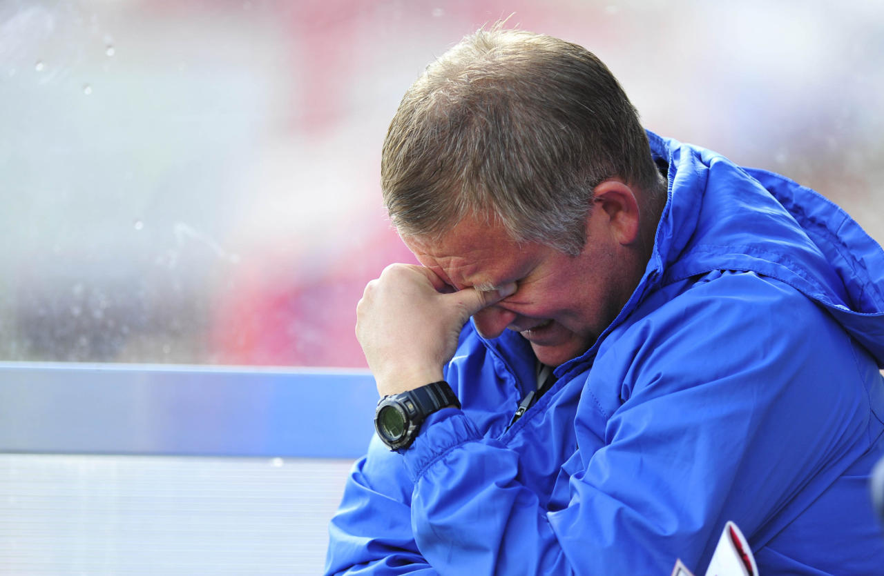 Oxford Utd manger Chris Wilder before the Sky Bet League Two match at the Abbey Business Stadium, Cheltenham.