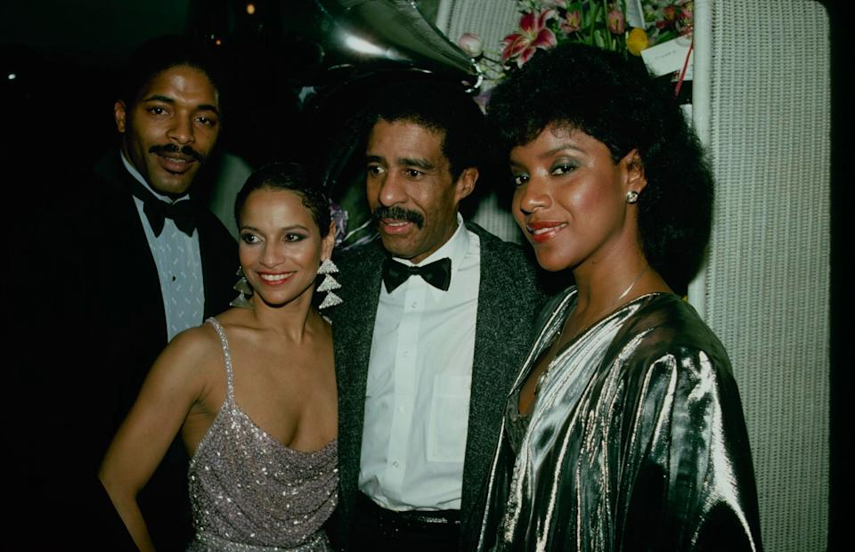 """Norm Nixon, Allen, Richard Pryor and Phylicia Rashad after the opening-night performance of Broadway's """"Sweet Charity"""" on April 28, 1986. (Photo: Time & Life Pictures via Getty Images)"""