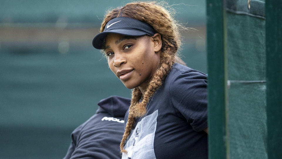 Serena Williams, pictured here a practice session ahead of Wimbledon.