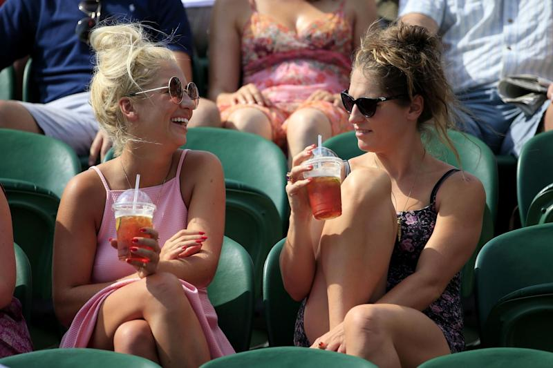 Called out: plastic straws are being replaced with paper ones at Wimbledon: PA