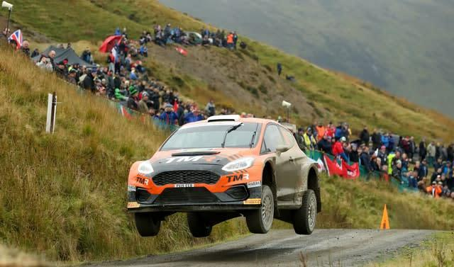 Japan's Takamoto Katsuta and Great Britain's Daniel Barritt during the Wales Rally GB (PA)