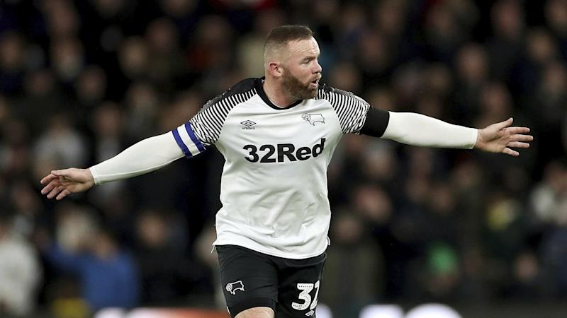 Wayne Rooney has inspired Derby County to a 2-1 win over Crystal Palace in the FA Cup