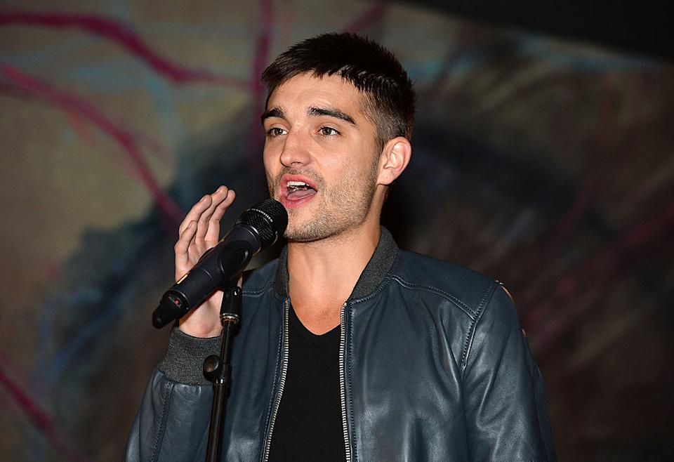Tom Parker has been diagnosed with an inoperable brain tumour, pictured in May 2013. (Getty Images)