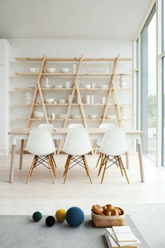 "<p>You don't need a china cabinet (and in fact, if you have one, you'll want to chuck it in favor of this, anyway), you just need DIY A-frame ladder shelves. Minimalism FTW!</p><p>Get the tutorial at <a href=""https://vintagerevivals.com/2016/08/diyaframeladdershelves"" rel=""nofollow noopener"" target=""_blank"" data-ylk=""slk:Vintage Revivals"" class=""link rapid-noclick-resp"">Vintage Revivals</a>.</p>"