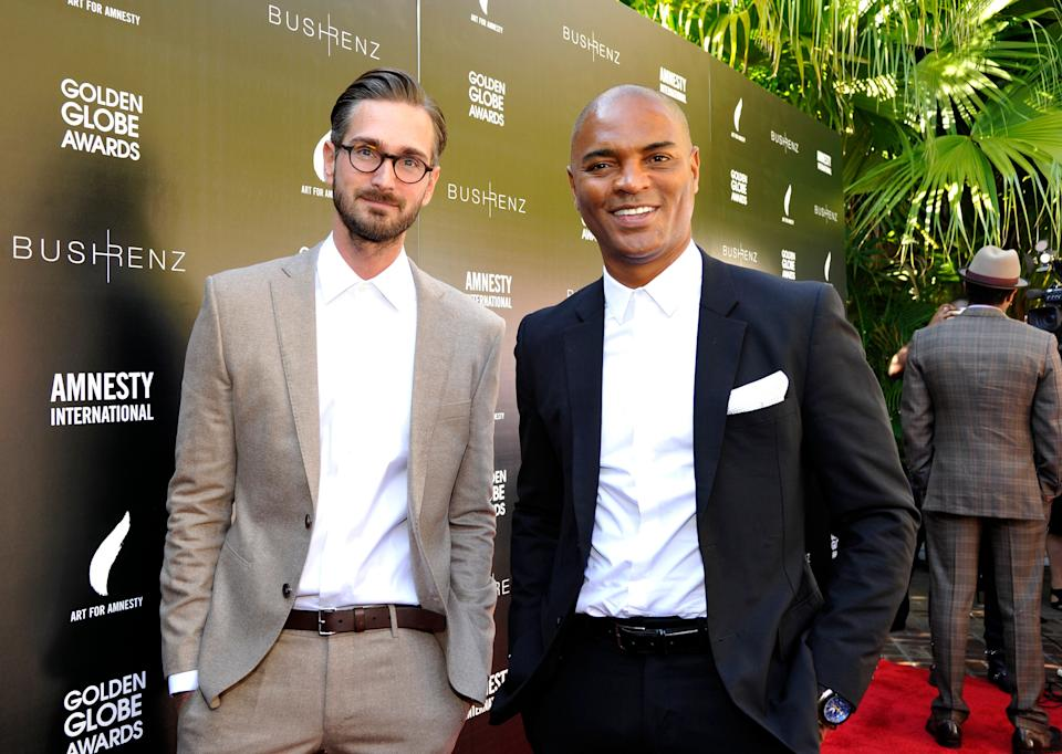 Christopher Renz and Gerard Bush attend an Art for Amnesty brunch in 2016. (Photo: John Sciulli via Getty Images)