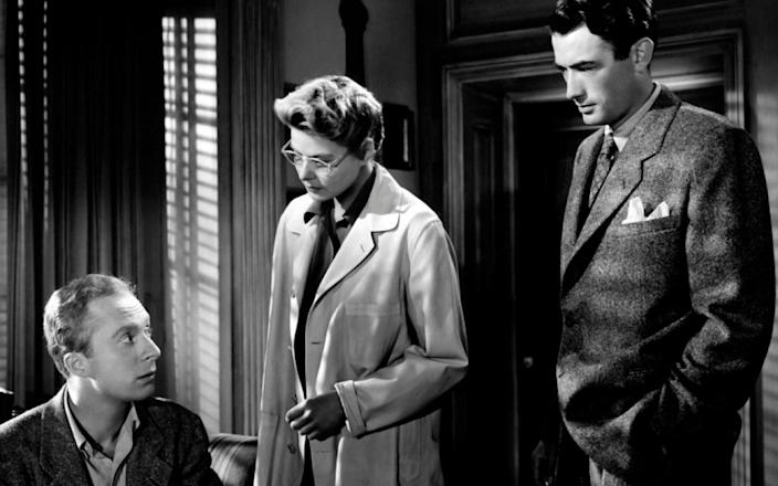 Norman Lloyd with Ingrid Bergman and Gregory Peck in Hitchcock's Spellbound - Arena