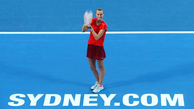 Ashleigh Barty was unable to claim a first WTA Tour title on home soil as she went down to Petra Kvitova in the Sydney International final.