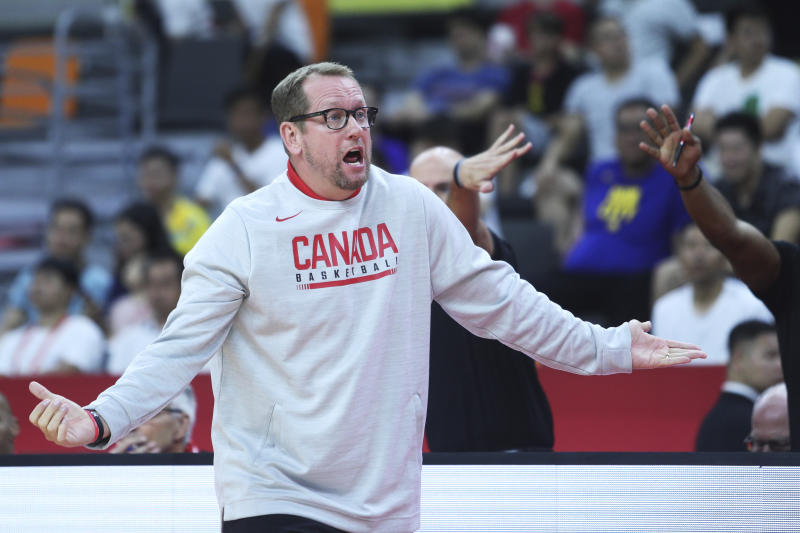 Nurse of Canada in action during FIBA World Cup 2019 group match between Canada and Australia. (Credit: Getty Images)