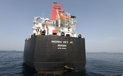 The Norwegian-flagged MV Andrea Victory was attacked on 12 May 2019 outside Fujairah port, United Arab Emirates - Credit: ALI HAIDER/EPA-EFE/REX