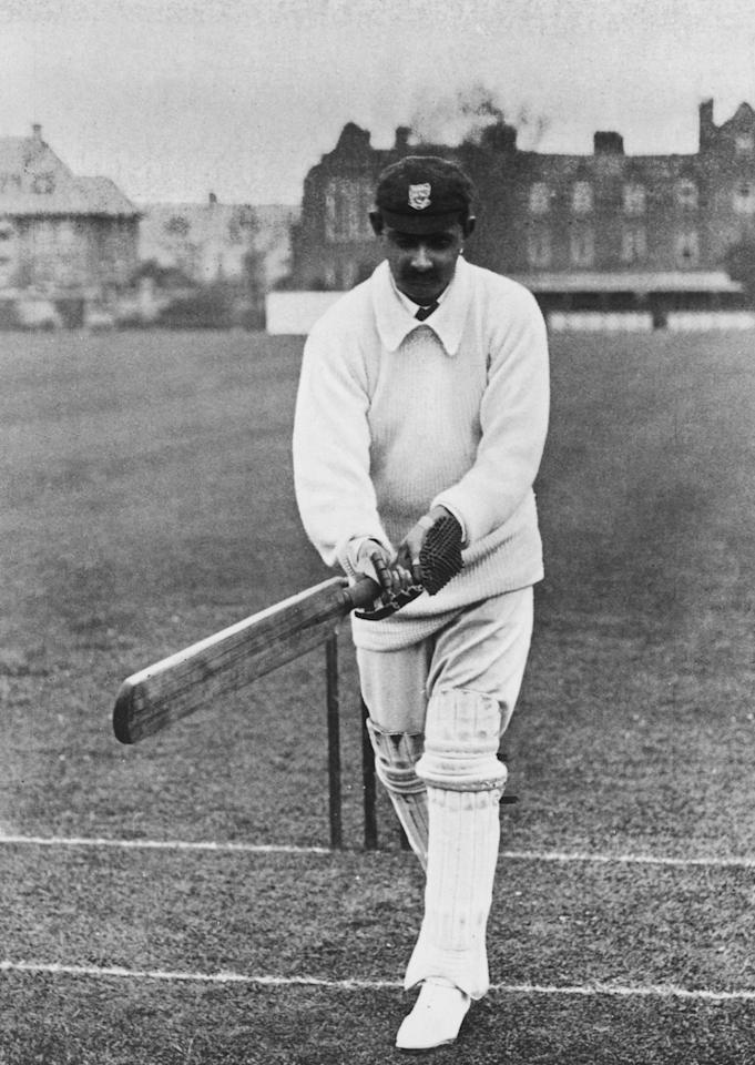 Indian prince and Sussex and England cricketer Kumar Shri Ranjitsinhji (a.k.a Ranji, 1872  - 1933), circa 1910. (Photo by Hulton Archive/Getty Images)