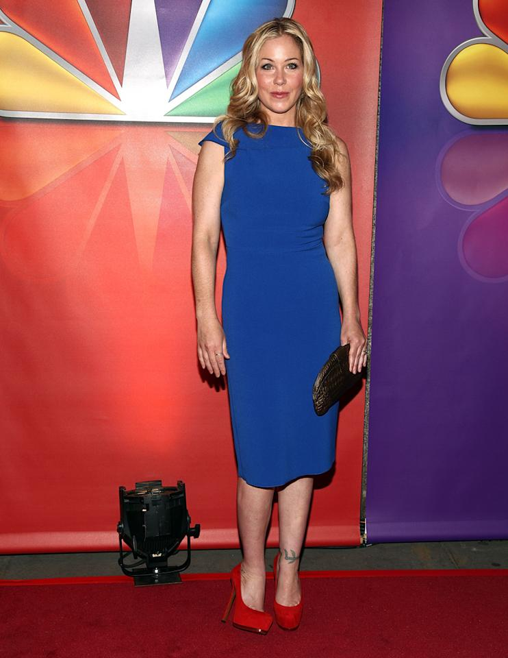 "Christina Applegate (""Up All Night"") attends NBC's 2012 Upfront Presentation at 51st Street on May 14, 2012 in New York City."