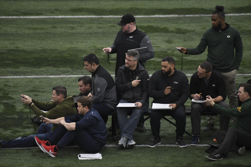 The entire NFL scouting process is changing amid all the pandemic uncertainty. And it's likely to change some more. (RJ Sangosti/The Denver Post via Getty Images)