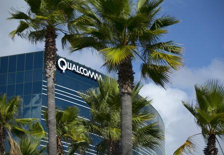 FILE PHOTO: One of many Qualcomm buildings is shown in San Diego, California November 3, 2015. REUTERS/Mike Blake/File Photo