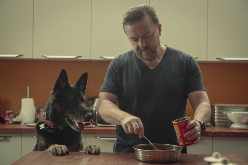 Ricky Gervais in <i>After Life</i>. (Netflix)