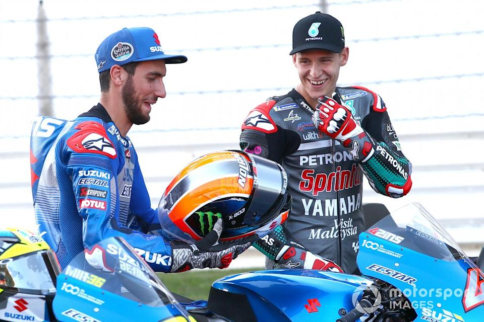 "Alex Rins, Team Suzuki MotoGP, Fabio Quartararo, Petronas Yamaha SRT<span class=""copyright"">Gold and Goose / Motorsport Images</span>"