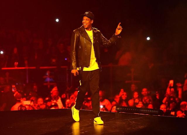 "<p>The rapper announced over the weekend that he has canceled a scheduled Dec. 6 concert in Lincoln, Neb., because it can't accommodate his ""4:44"" show. But he gave 100 percent Sunday at the Barclays Center in his hometown of Brooklyn. (Photo: Kevin Mazur/Getty Images for Roc Nation) </p>"