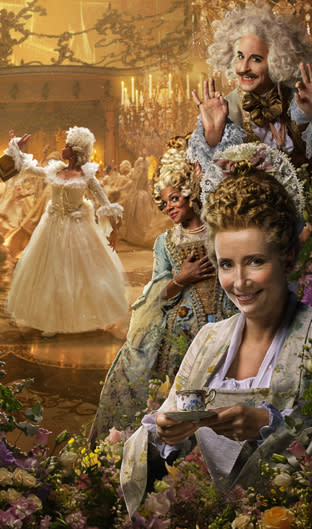 Gugu Mbatha-Raw in the background, with Stanley Tucci, Audra MacDonald, and Emma Thompson