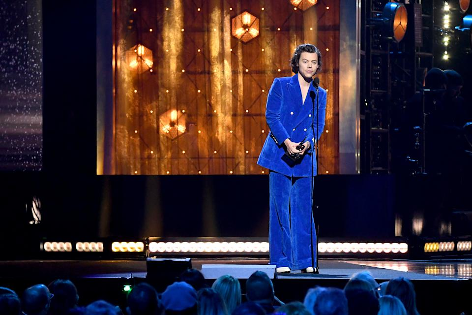 """""""Am I sprinkling in nuggets of sexual ambiguity to try and be more interesting? No,"""" Styles said. (Photo: Mike Coppola/WireImage)"""
