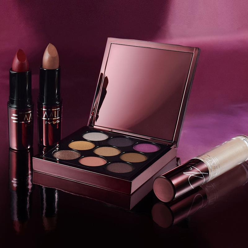 The MAC x Aaliyah collection, including the Try Again nude matte lipstick and the eyeshadow palette Age Ain't Nothing.