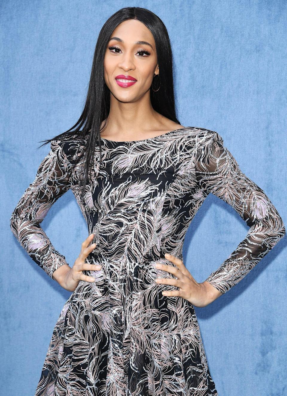 Mj Rodriguez attends the Etro fashion show on February 21, 2020 in Milan, Italy