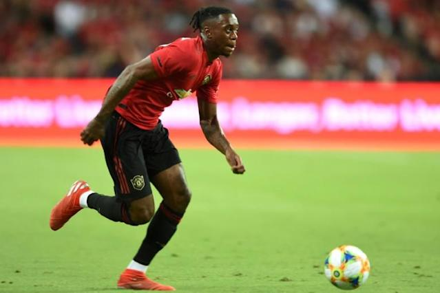 Aaron Wan-Bissaka in action for Manchester United in Singapore (AFP Photo/Roslan RAHMAN)
