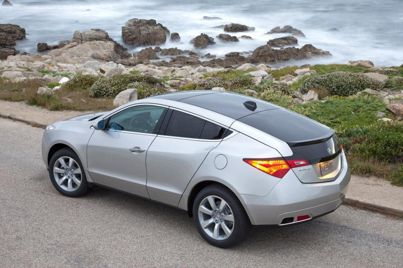 The Acura ZDX has massive blind spots because of its high belt line and low roof.