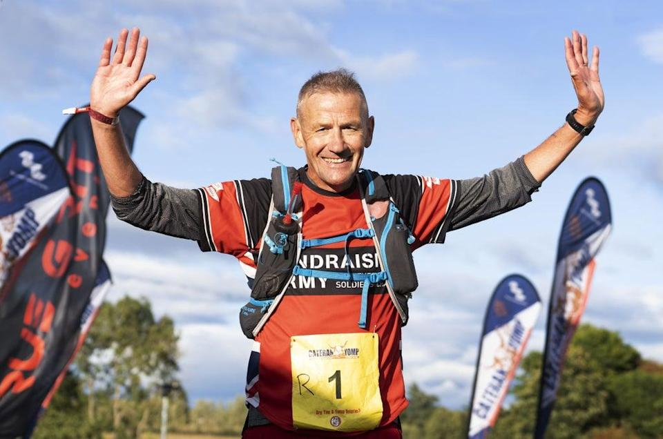 Eddie Towler, 53, from Bradford, won the Cateran Yomp in a record time of 9.53 (David Cheskin/ABF) (PA Media)