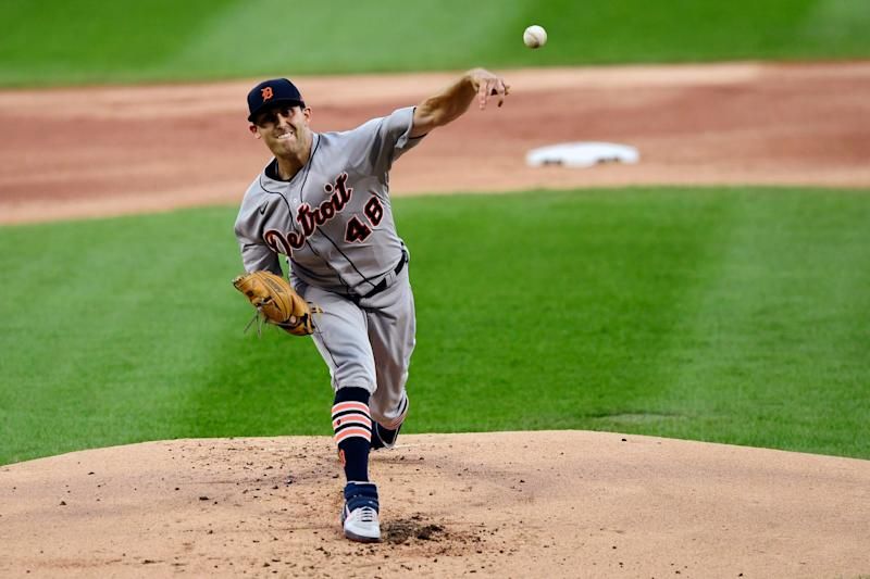 Detroit Tigers starter Matthew Boyd delivers a pitch during the first inning against the Chicago White Sox, Monday, Aug. 17, 2020, in Chicago.