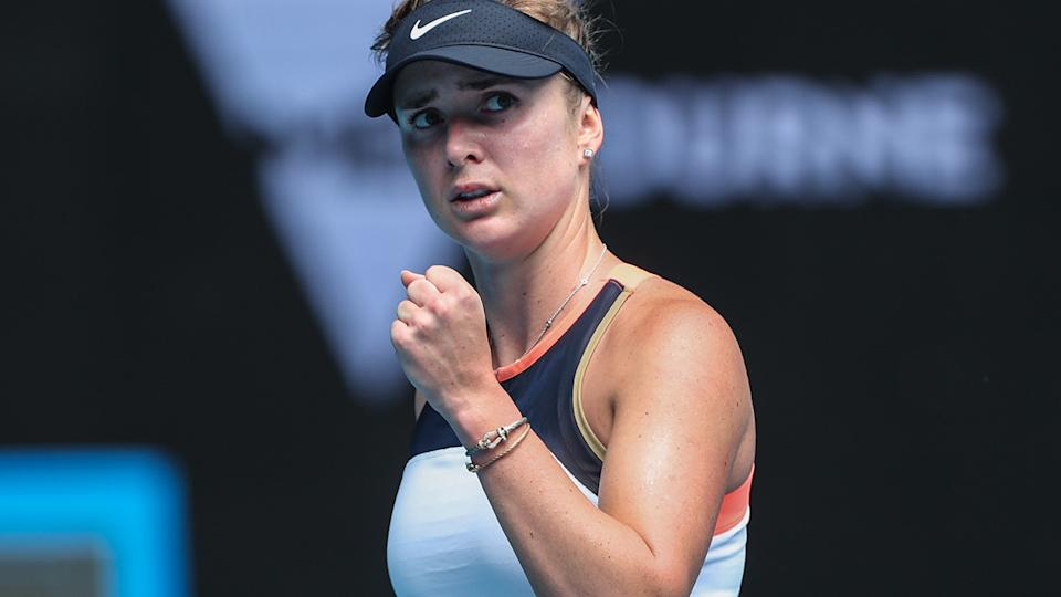 Elina Svitolina, pictured here after beating Yulia Putintseva at the Australian Open.