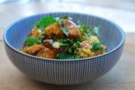 """<div class=""""caption-credit""""> Photo by: Brooklyn Supper</div><b>Spicy Squash Salad <br></b> This is a simple salad that can be made with an assortment of winter squash or root vegetables. The lemony dressing and bracing parsley are a wonderful counterpoint to the sweet and spicy roasted squash. <br> <a href=""""http://www.babble.com/best-recipes/healthy-holiday-15-eye-catching-salad-recipes/#spicy-squash-salad"""" rel=""""nofollow noopener"""" target=""""_blank"""" data-ylk=""""slk:Get the recipe"""" class=""""link rapid-noclick-resp""""><i>Get the recipe</i></a> <br> <b><i><a href=""""http://www.babble.com/best-recipes/healthy-holiday-15-eye-catching-salad-recipes/"""" rel=""""nofollow noopener"""" target=""""_blank"""" data-ylk=""""slk:For more salads to help you get back in shape after the holidays, visit Babble!"""" class=""""link rapid-noclick-resp"""">For more salads to help you get back in shape after the holidays, visit Babble!</a></i></b> <br>"""