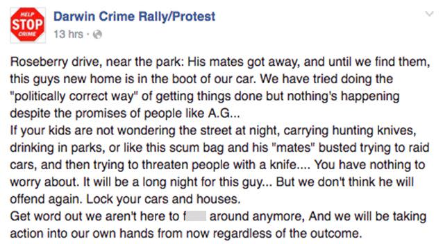 The group posted the photo along with this explanation. Photo: Facebook