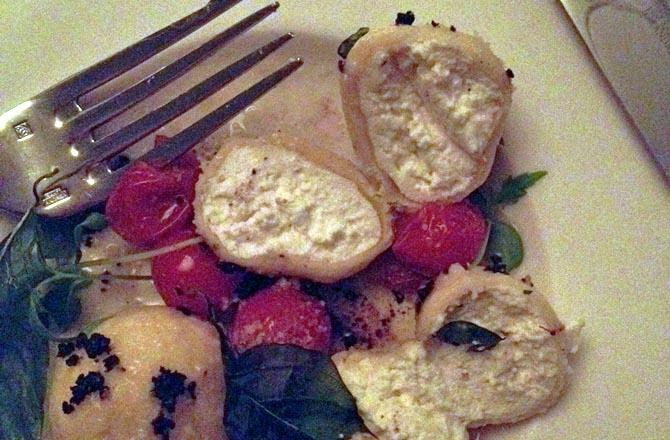 Food of the Day: Ricotta Gnudis at Crabtree's Kittle House