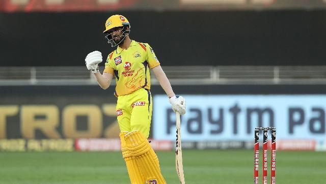Batsman Ruturaj Gaikwad impressed with an unbeaten 65 off 51 balls as Chennai Super Kings beat Royal Challengers Bangalore by eight wickets in Sunday's first of the double-header clashes of IPL 2020. That win was a bit too late as their elimination was confirmed after Rajasthan Royals' win over Mumbai Indians in the day's second match. Sportzpics