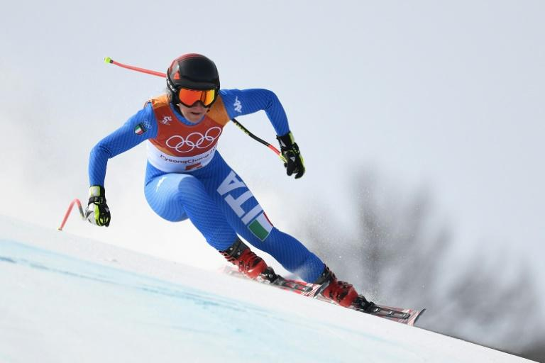 Italy's Sofia Goggia skies to a gold medal in the women's downhill at the Pyeongchang 2018 Winter Olympic Games on Wednesday