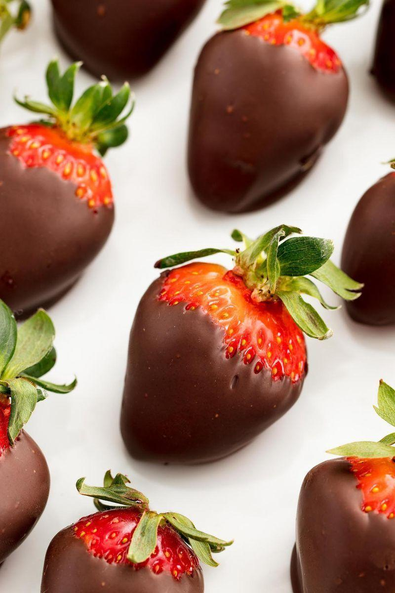 """<p>Is there anything better than <a href=""""https://www.delish.com/uk/cooking/recipes/a33257445/chocolate-covered-strawberry-cubes-recipe/"""" rel=""""nofollow noopener"""" target=""""_blank"""" data-ylk=""""slk:chocolate-covered strawberries"""" class=""""link rapid-noclick-resp"""">chocolate-covered strawberries</a>? We think not. They're at once indulgent and classy, romantic and a little cheesy.</p><p>Get the <a href=""""https://www.delish.com/uk/cooking/recipes/a33631827/how-to-make-chocolate-covered-strawberries/"""" rel=""""nofollow noopener"""" target=""""_blank"""" data-ylk=""""slk:Chocolate Covered Strawberries"""" class=""""link rapid-noclick-resp"""">Chocolate Covered Strawberries</a> recipe. </p>"""