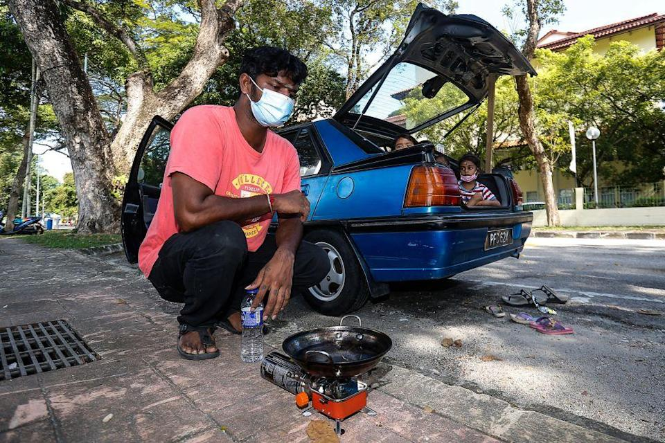 The family has a portable gas stove which they sometimes use to cook instant noodles. — Picture by Sayuti Zainudin