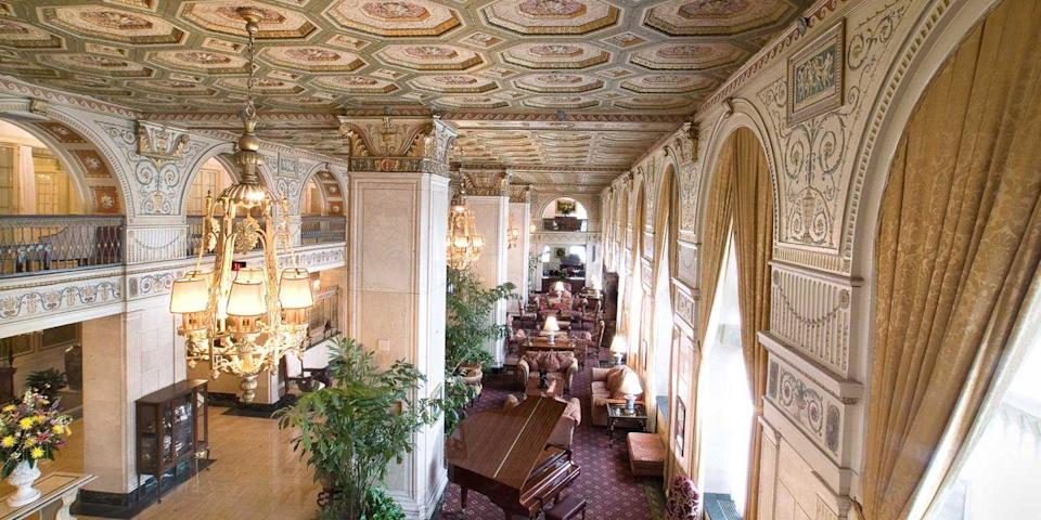 """<p><a href=""""https://go.redirectingat.com?id=74968X1596630&url=https%3A%2F%2Fwww.tripadvisor.com%2FHotel_Review-g39604-d88855-Reviews-The_Brown_Hotel-Louisville_Kentucky.html&sref=https%3A%2F%2Fwww.redbookmag.com%2Fabout%2Fg34149750%2Fmost-historic-hotels%2F"""" rel=""""nofollow noopener"""" target=""""_blank"""" data-ylk=""""slk:The Brown Hotel"""" class=""""link rapid-noclick-resp"""">The Brown Hotel</a>, built in 1923, is a <a href=""""https://www.bestproducts.com/fun-things-to-do/g19978103/things-to-do-in-louisville/"""" rel=""""nofollow noopener"""" target=""""_blank"""" data-ylk=""""slk:Louisville"""" class=""""link rapid-noclick-resp"""">Louisville</a> landmark. The Old World lobby is rich with chandeliers and plush couches, and the 293 rooms feature mahogany furnishings and marble baths. The Lobby Bar is one of the city's longtime favorite spots to enjoy a glass of bourbon, followed by dinner in the <a href=""""https://www.tripadvisor.com/Restaurant_Review-g39604-d397517-Reviews-English_Grill-Louisville_Kentucky.html"""" rel=""""nofollow noopener"""" target=""""_blank"""" data-ylk=""""slk:English Grill"""" class=""""link rapid-noclick-resp"""">English Grill</a>.</p>"""